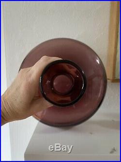 Vintage 50s BLENKO #565 Decanter Wayne HUSTED Lilac, Purple, Amethyst MCM