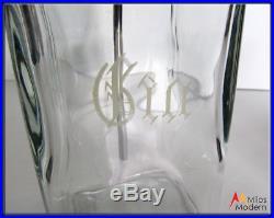 Vintage 60s Mid Century Modern Glass & Acrylic Liquor Decanter Set in Rack NICE