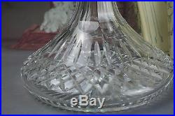 Vintage American Waterford Lismore crystal glass decanter