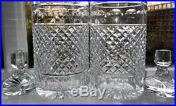 Vintage Anglo Irish Cut Crystal Glass Decanter Pair