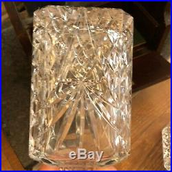 Vintage Antique Cut Crystal Tantalus Decanter Set With Key