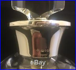 Vintage Asprey Crystal Decanter Sterling Collar Deco & Fabulous 2 Available
