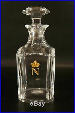 Vintage Baccarat French Crystal Harcourt Napoleon Cognac Decanter
