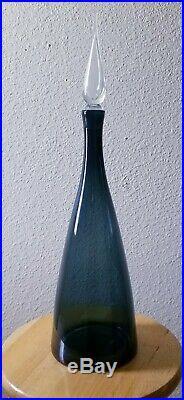 Vintage Blenko 920L Winslow Anderson 23 Decanter Charcoal sticker