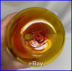 Vintage Blenko Art Glass Tangerine 657 Decanter 59712