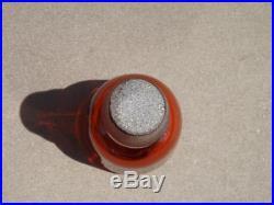 Vintage Blenko Decanter 565 Wayne Husted Tangerine Amberina 9 Wide 10 Tall EXC