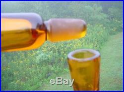 Vintage Blenko Decanter #657 Joel Meyers 14 Honey Crackle Glass