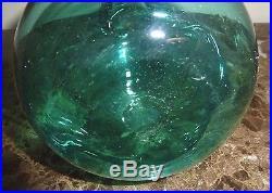 Vintage Blenko Sea Green Decanter 13.5 High