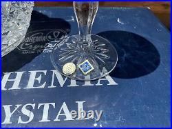 Vintage Bohemia Crystal Czech Republic Liquor Decanter & 6 Glass Set