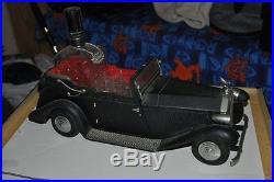Vintage COLLECTIBLE CAR Scotch LIQUOR BOTTLE & SHOT GLASSES HOLDER