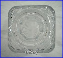 Vintage Cut Glass Crystal Floral Liquor Decanter Bottle