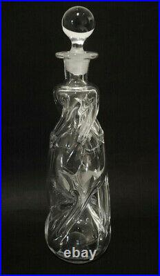 Vintage Danish Holmegaard Gourgelette Snapse Schnapps Doctor Decanter