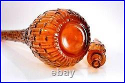 Vintage Empoli Glass Genie Bottle Italian Decanter Art Vase Circa 1960