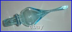 Vintage Empoli Italian Art Glass 27 1/2 TALL Genie Bottle Decanter & Stopper