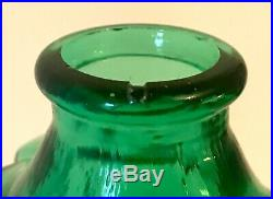 Vintage Empoli Italian Glass Bottle Decanter After Helena Tynell Riihimaki 1970s