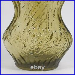 Vintage Empoli Sage Green Genie Bottle Decanter Wayne Husted Stelvia Blenko 6215