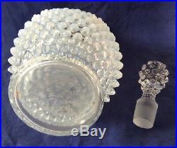 Vintage Fenton Art Glass French Opalescent Hobnail Decanter
