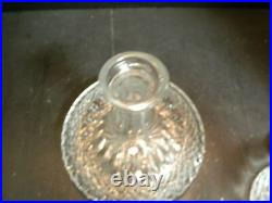 Vintage Galway Crystal Ships Decanter Bottle with Stopper 9 x 8.13 Excellent Con