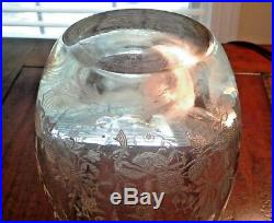 Vintage Heisey Orchid Decanter with Stopper 10.5 Inches, # 67490281 RARE Lovely