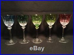 Vintage Incredible Saint Louis Crystal Tommy Decanter 5 Goblets