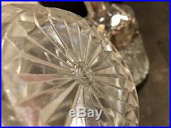 Vintage Italian Crystal Glass Bar Decanter Set With Tags By Firenze Sigma GI