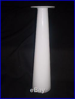Vintage Italian Empoli Mid Century 16 White Cased Glass Genie Bottle Decanter