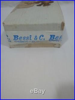 Vintage Italian bessi Glass Decanter Bottles 9 Rare Cat & Dog Unique. Box sealed