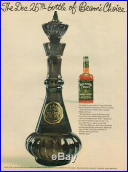 Vintage Jim Beam Genie I Dream of Jeannie Bottle Smoke Green Glass Decanter 1964