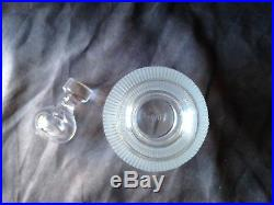 Vintage LALIQUE Ribbed Crystal Langeais Decanter (signed) 10 high Excellent