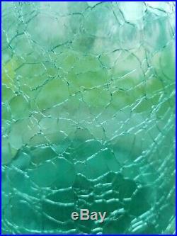 Vintage LARGE Blenko Aqua Crackle Glass Decanter 21 3/4, 920