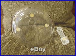 Vintage Lalique Phalsbourg Crystal Decanter, Mint Approx 10 Tall