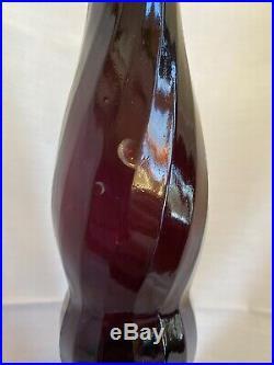 Vintage MCM Italy Amethyst Glass Decanter 28 Empoli Blenko Genie Bottle