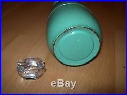Vintage Manning Bowman Art Deco Green Thermos Carafe Pitcher Glass Metal Old $99