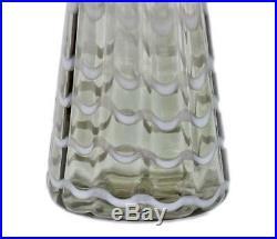 Vintage Mid Century Modern 27 Empoli Italy Art Glass Floor Decanter Bottle