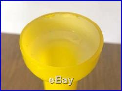 Vintage Mid Century Modern Empoli Yellow Cased Glass Decanter Danish Modern