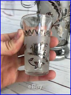 Vintage Mid Century Modern Liquor Decanter / Dispencer Set With Shot Glasses