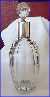 Vintage Moser Czechoslovakian Cut Crystal & 800 Silver Decanter 1922-29