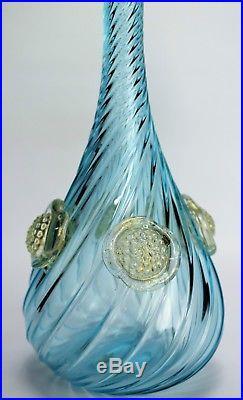Vintage Murano Blue Bottle Venetian glass decanter