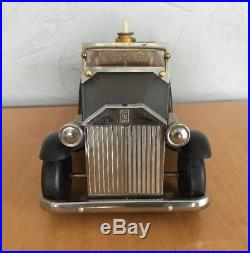 Vintage ROLLS ROYCE Car with Bar and Music Box Decanter Shot Glasses 15 Long