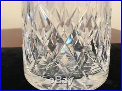 Vintage Signed WATERFORD CRYSTAL Lismore Pattern Spirits Liquor Wine Decanter