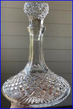 Vintage Waterford Crystal Cut Glass Ships Decanter With Stopper Beautiful