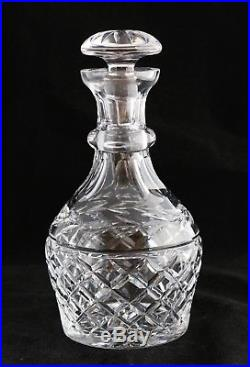 Vintage Waterford Ireland Cut Crystal Spirits Decanter Glandore withStopper 9 1/2