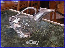 Vintage Wine Decanter Silver And Glass