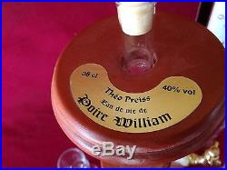 Vintage french Tantalus liquor set glass tower modernist bauhaus mid century