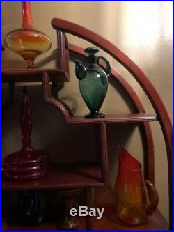 Vtg 1956 Wayne Husted Blenko #573 Cocktail Decanter Shaker Mid Century Modern