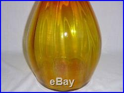 Vtg 1964 Blenko #6418 Decanter Joel Myers Panel Optic Tangerine NEEDS TLC