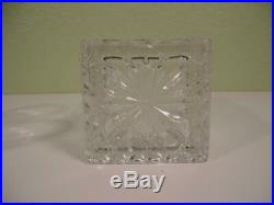 Vtg Czech Bohemian Cut Crystal Bar Whiskey Set Decanter & 6 Glasses