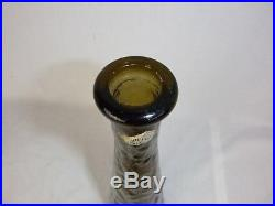 Vtg Mid Century Guildcraft Smoke Brown Olive Green Empoli Genie Bottle Decanter