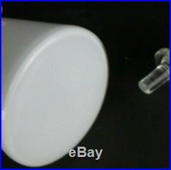 Vtg Mid Century Modern Empoli White Cased Glass Genie Bottle Decanter 24.5 #1