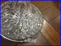 WATERFORD CRYSTAL Vintage LISMORE SHIPS DECANTER with STOPPER Liquor Wine SIGNED
